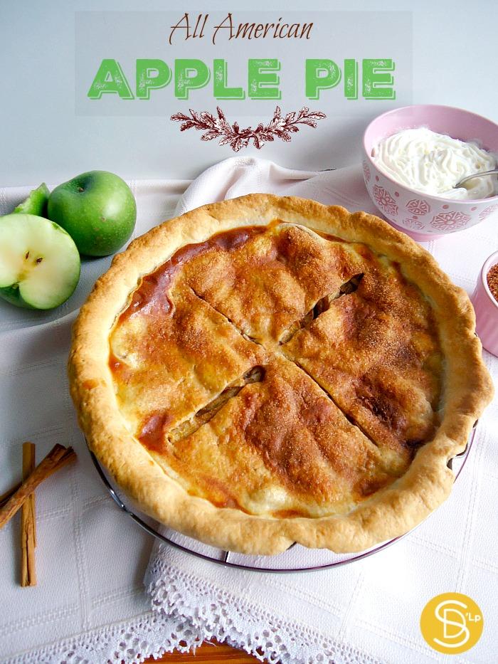 All American Apple Pie (Tarta de Manzana Americana) y una pequeña ...