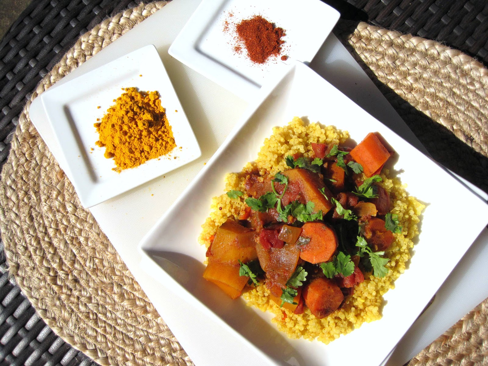 ... and Lima Beans: quinoa with moroccan winter squash and carrot stew