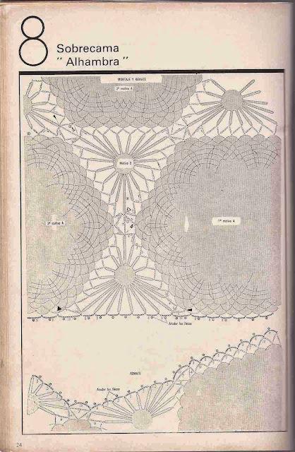 "#25 Sobrecama ""Alhambra"" a Crochet"