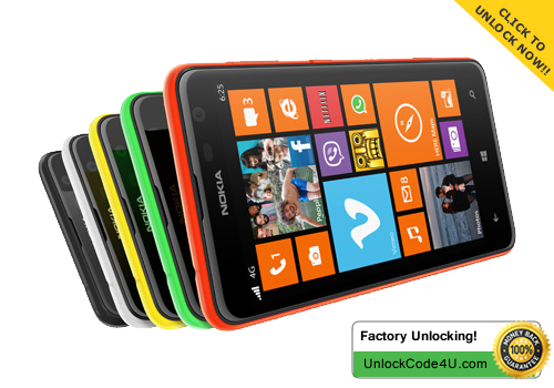 Factory Unlock Code for Lumia 625 from UK O2