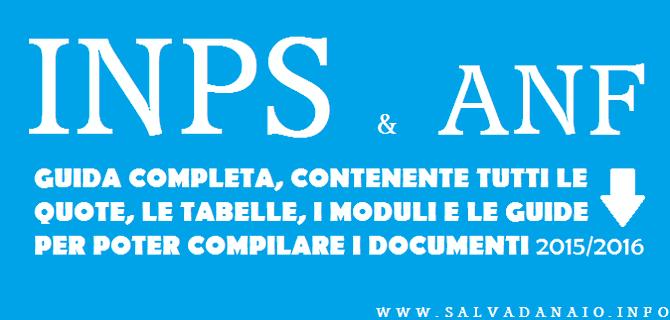 Come richiedere assegni familiari ANF quote + tabelle moduli e domanda