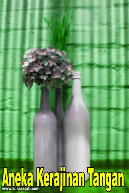 vas bunga dari botol bekas, kerajinan tangan dari botol, kerajinan tangan dari botol bekas, vas bunga dari botol bekas,