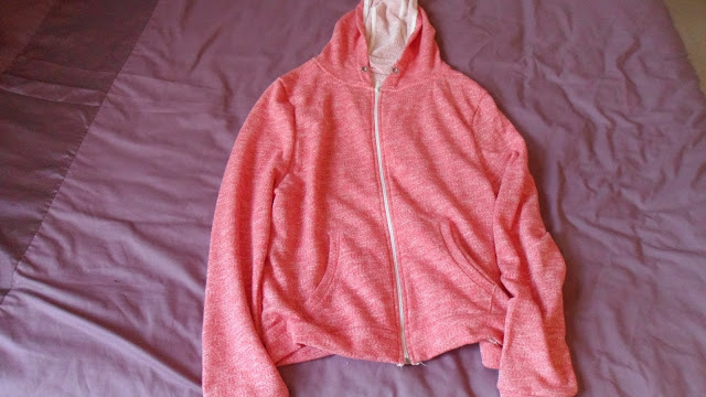 Primark coral hooded top