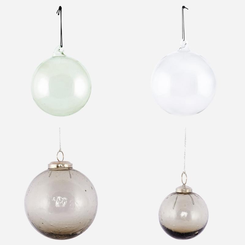 lasiset joulupallot