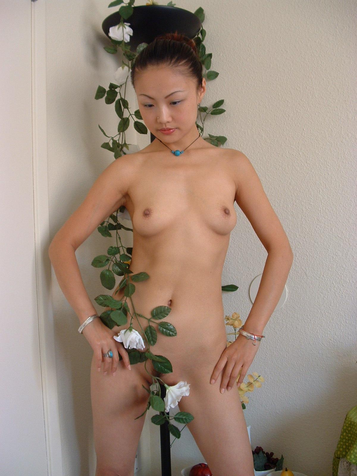 Nude woman executive
