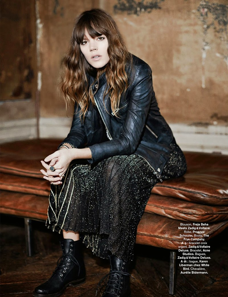 Rock & Folk: Freja Beha Erichsen By Fred Meylan For Glamour France August 2014