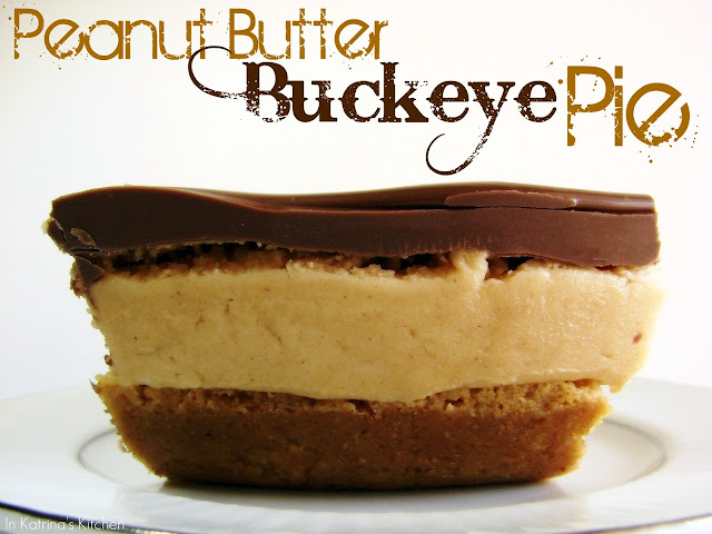 Peanut Butter Buckeye Pie from @KatrinasKitchen