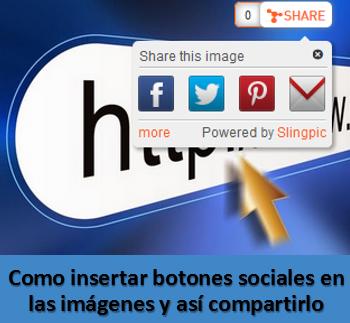 Como insertar botones sociales en las imágenes y así compartirlo