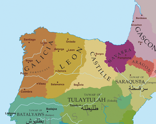 Map of Galicia