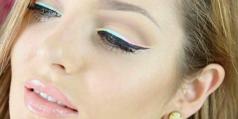 eyeliner warna pastel jadi tren 2015