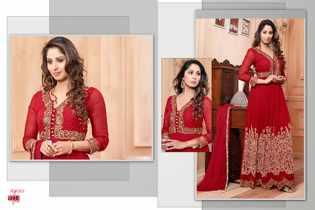 New Arrival Sangeeta Ghosh Embroidered Long Anarkali Suit