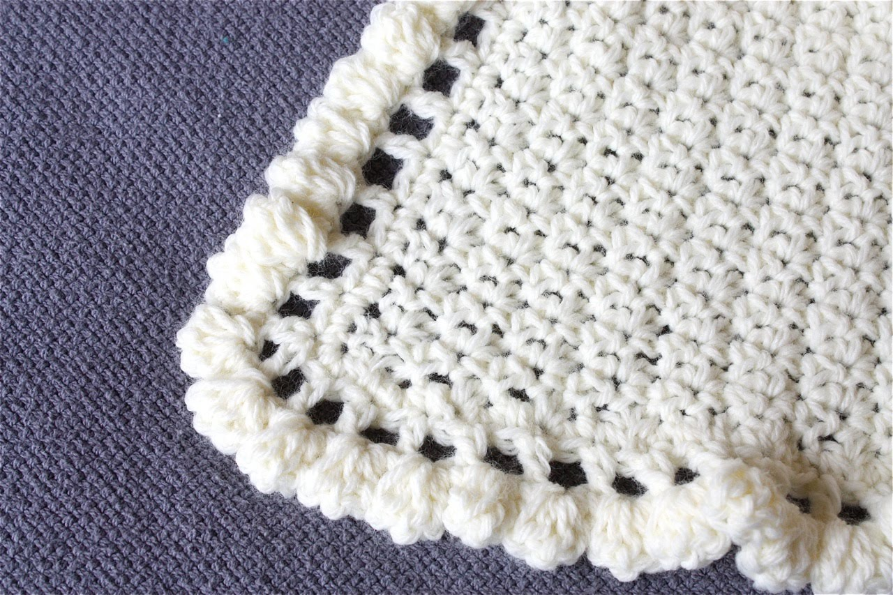The Apple Crate: Crocheted Baby Blanket