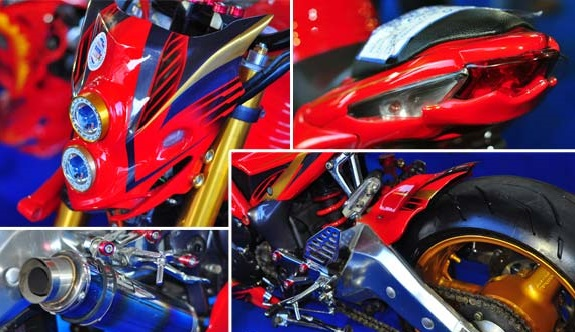 Modifikasi Motor Scorpio Gaya Street Fighter