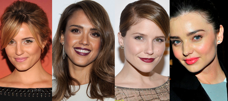 friday favorites, lipstick, dianna agron, jessica alba, sophia bush, miranda kerr