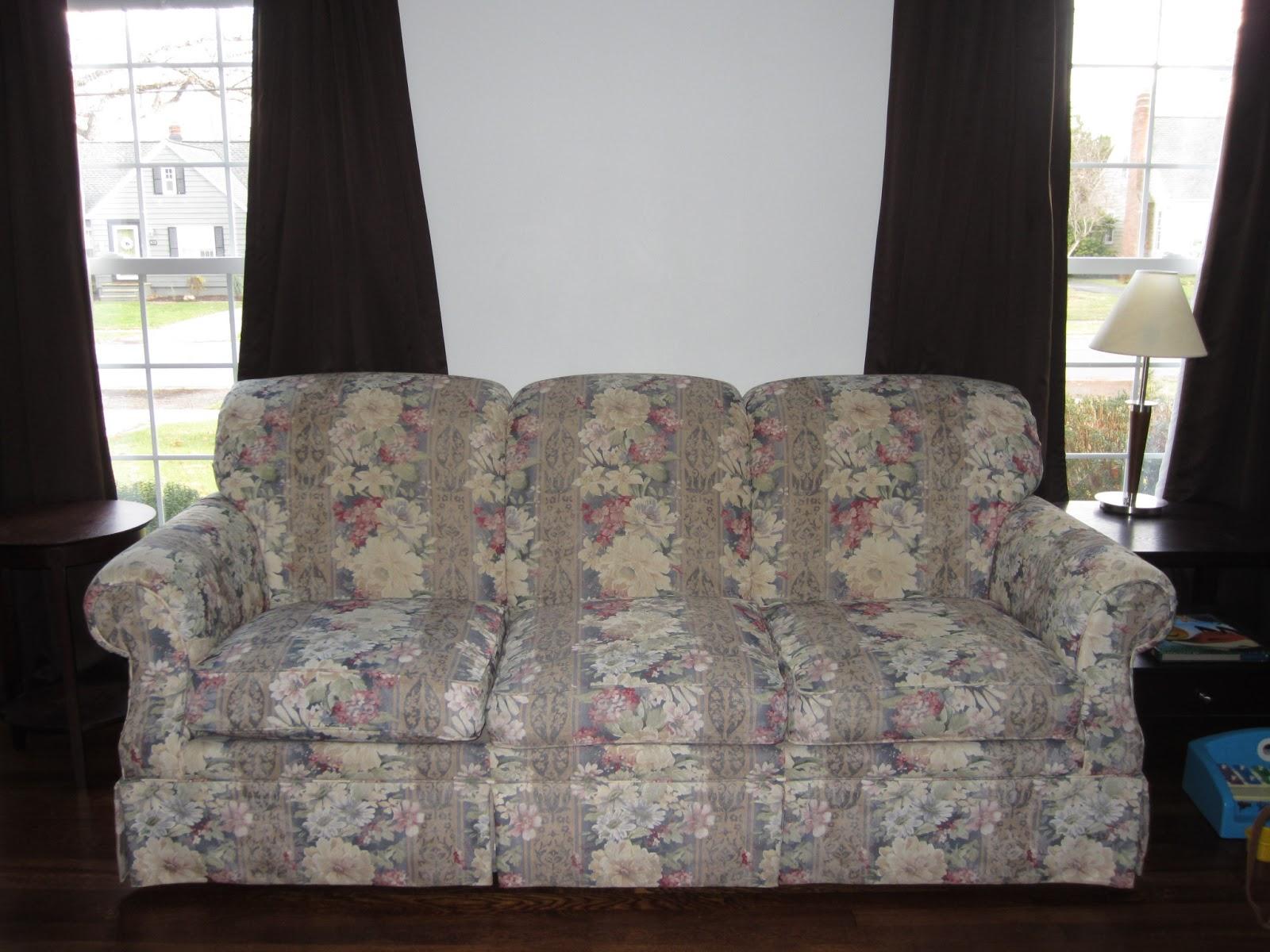 Natural Brushed Canvas Sofa Slipcover