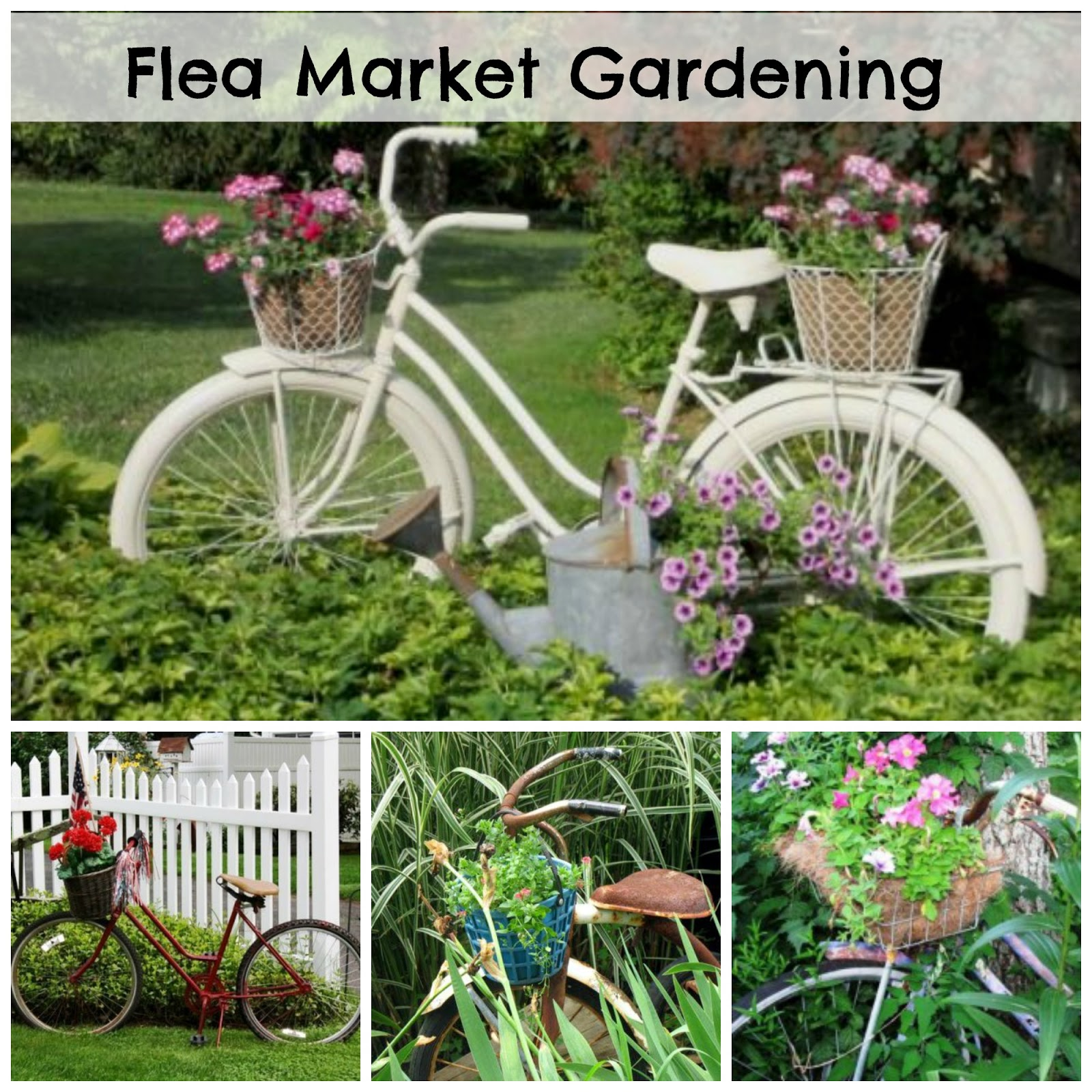 Add a bike to your garden just for the fun of it for Ideas for my garden