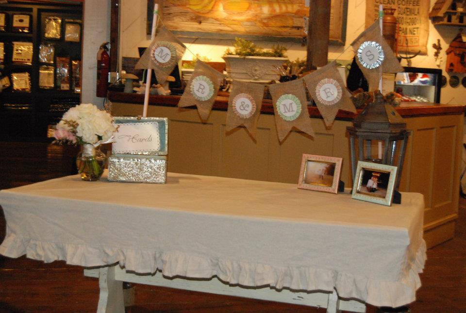 Wedding Reception Gift Table Ideas : Garden Wedding Gift Table Ideas And the gift table!