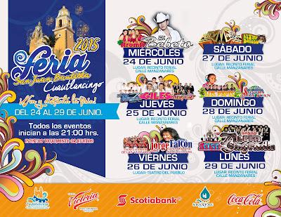 Feria Cuatlancingo 2015 programa