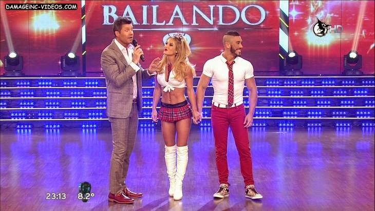 Argentina Celebrity Jesica Cirio schoolgirl outfit hot video