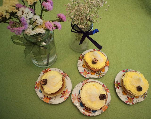 cupcakes de choco y coco alba hogar
