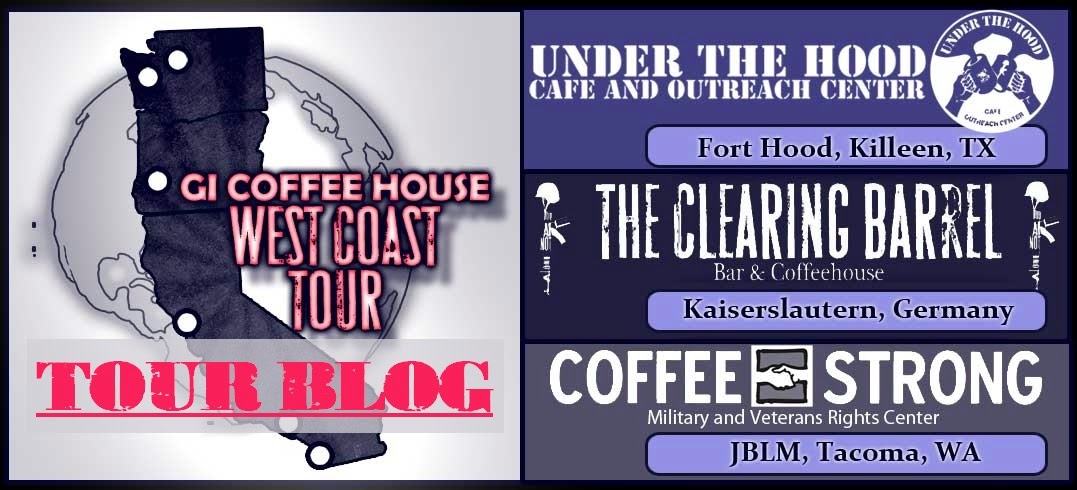 GI COFFEE HOUSE WEST COAST SPEAKING TOUR