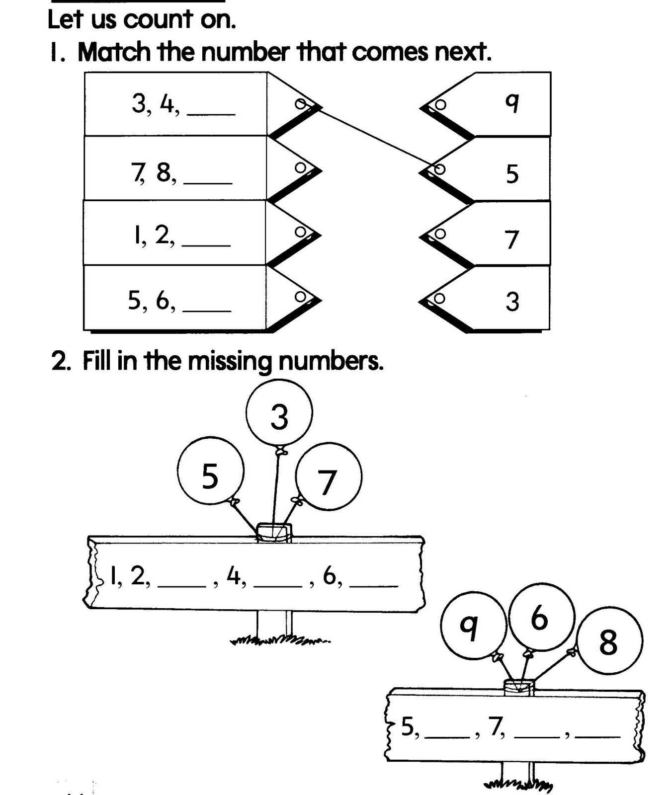 MATHEMATICS YEAR 1 : NUMBERS 0 TO 10: Exercise 5