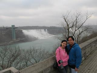 Niagara Falls American falls and Bridal Veil Falls