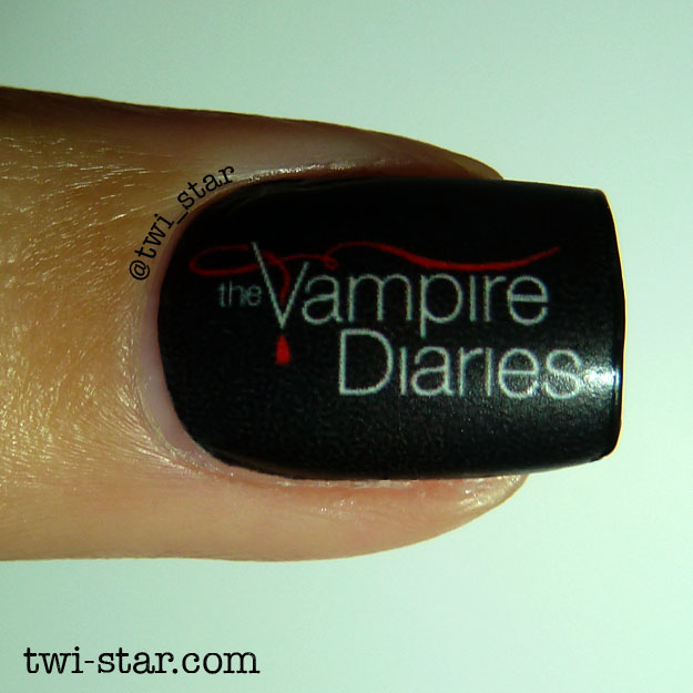 Twi star nail art blog vampire diaries nail art water decal vampire diaries nail art water decal mani its the season 6 premiere prinsesfo Gallery