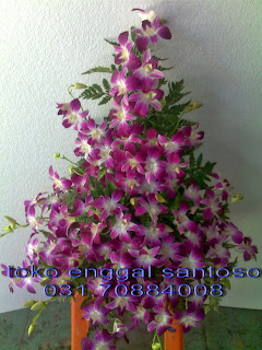 bouquet bunga meja (anggrek)