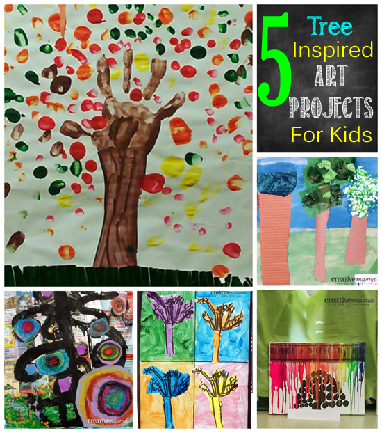 5 Tree Inspired Art Projects for Kids - Summer Art