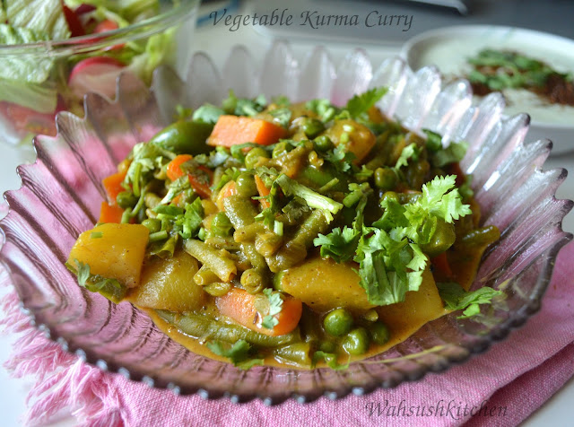Vegetable kurma or shahi kurma