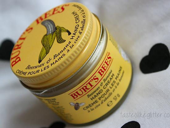 Burt's Bees Beeswax & Banana Hand Cream.