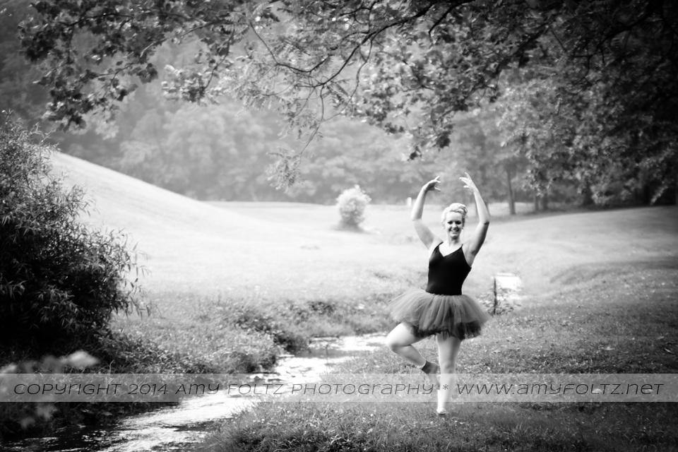 teenage ballerina outdoors