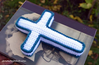 crochet plush cross