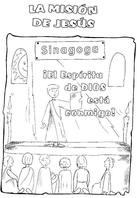 Imagen de Jesús en la sinagoga para colorear ~ Mi vida sin Cristo no ...