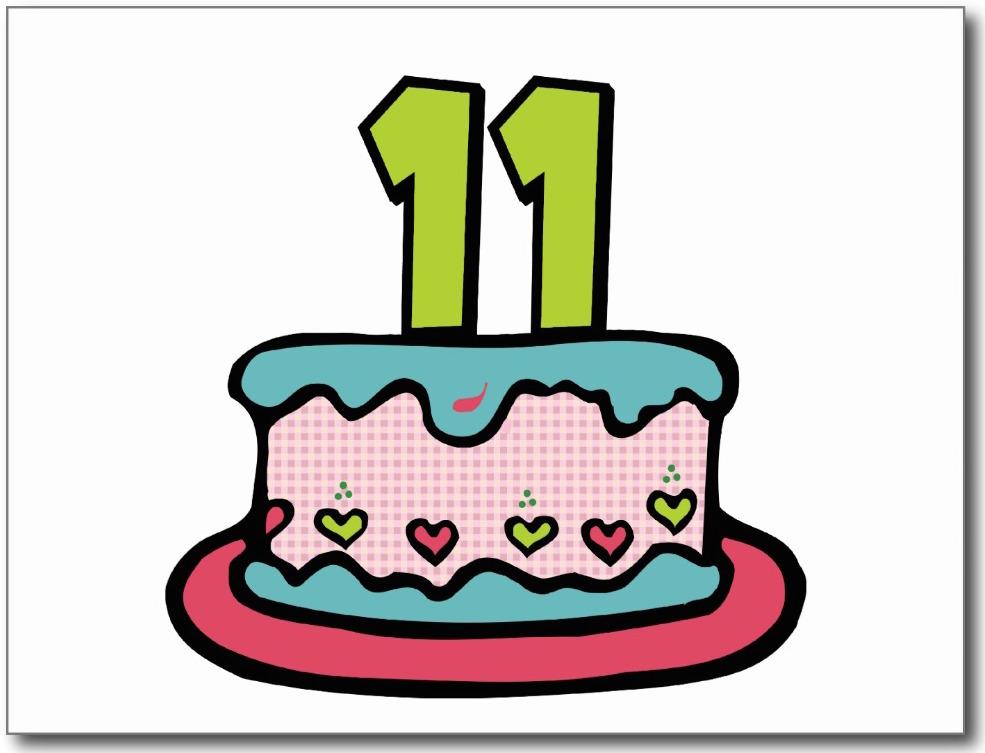 Eleventh Birthday Cake