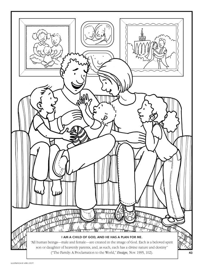 Excepcional La Familia Lds Para Colorear Modelo - Dibujos de ...