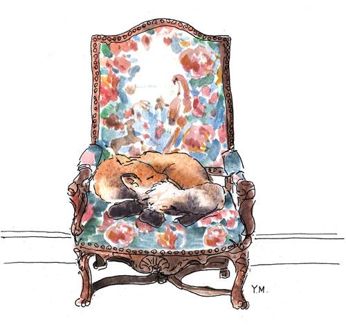 Renard endormi par Yukié Matsushita