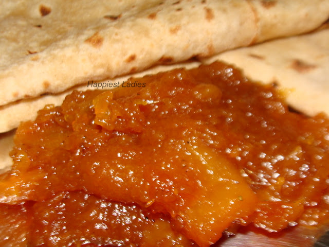 Indian bread served with fruit jam+jam making