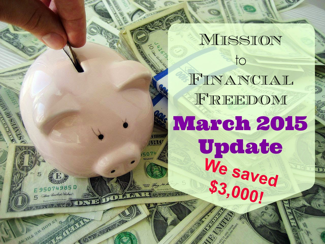We Saved Over $3,000 in March for Mission to Financial Freedom