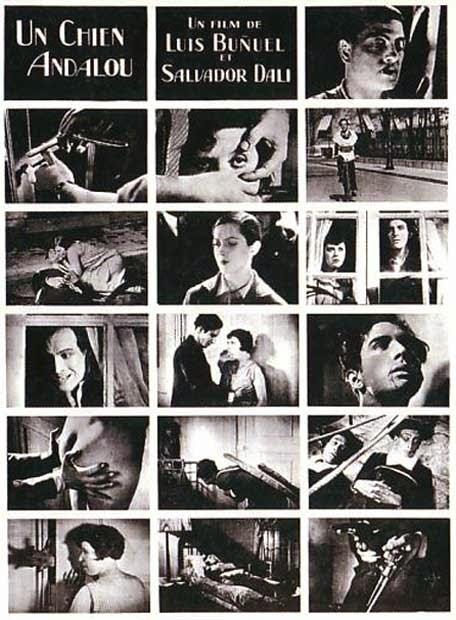 Cartel de la película Un Perro Andaluz de Luís Buñuel