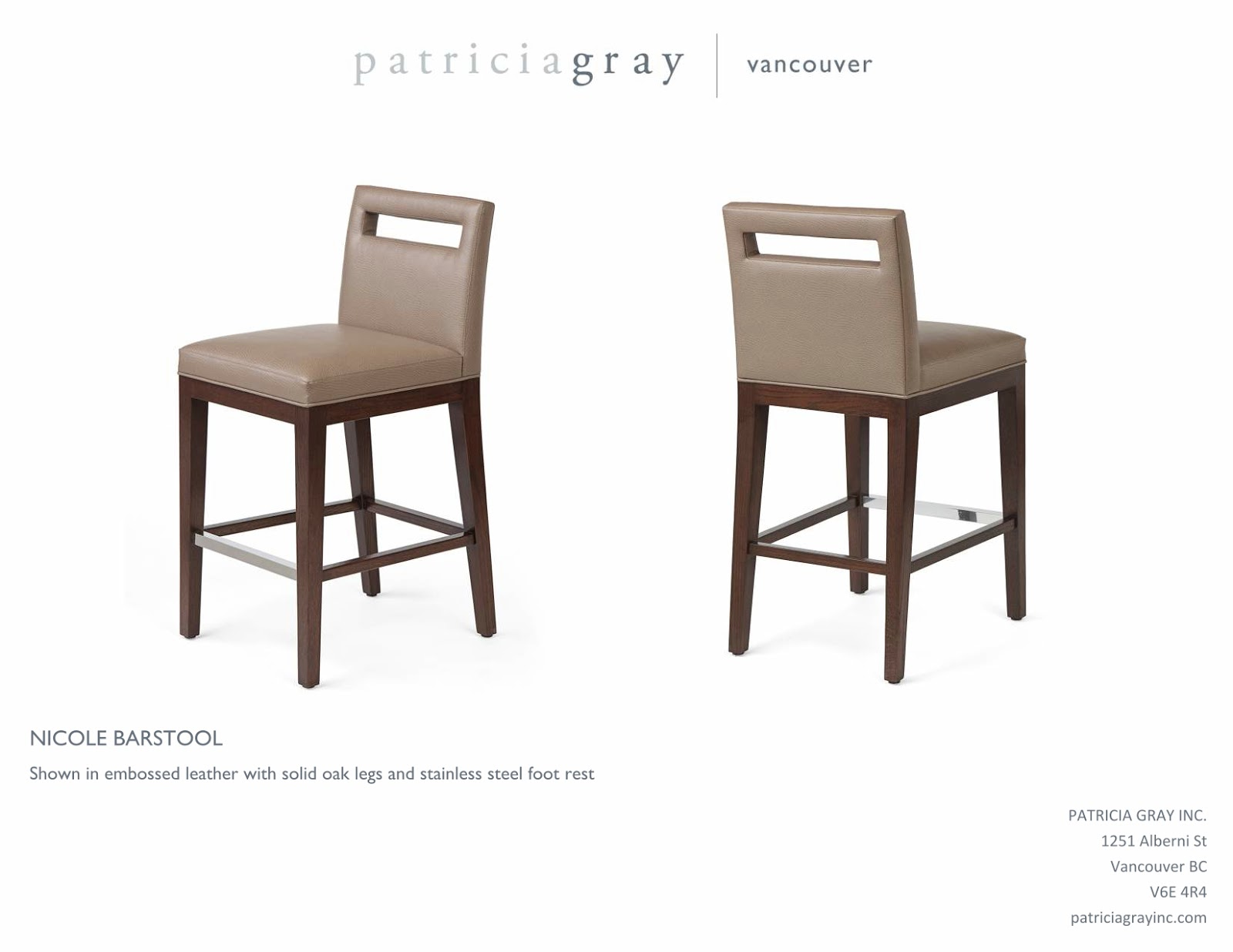 Nicole Barstool   Custom Furniture Design Vancouver. Patricia Gray   Interior Design Blog