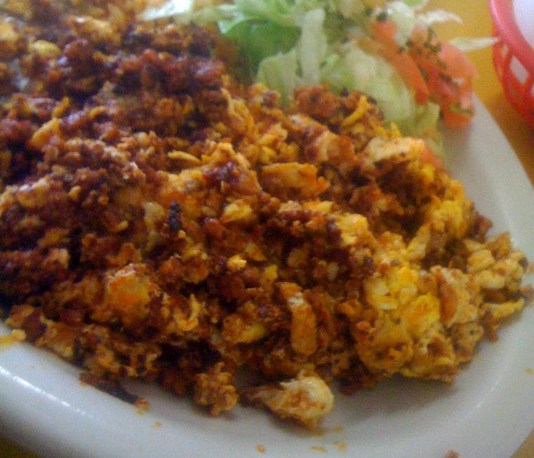 Chorizo And Eggs http://www.indigoroth.com/2012_04_01_archive.html