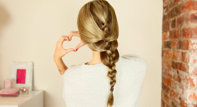 DIY relaxed french braid hairstyle tutorial
