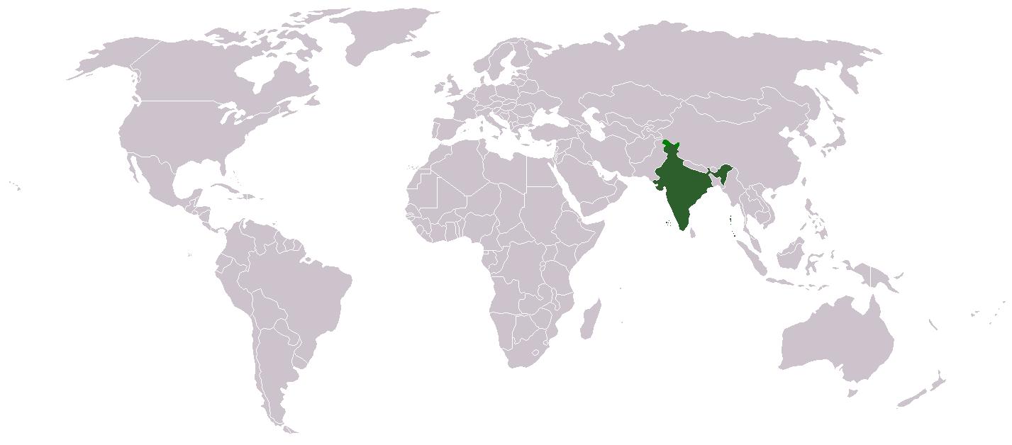India Mapa Mundi