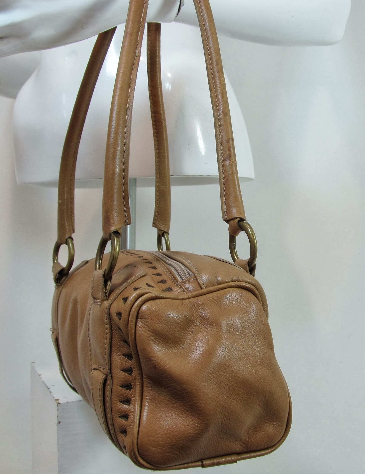 HISPANITAS CAMEL TAN QUALITY LEATHER HANDBAG OVER SHOULDER BAG ...
