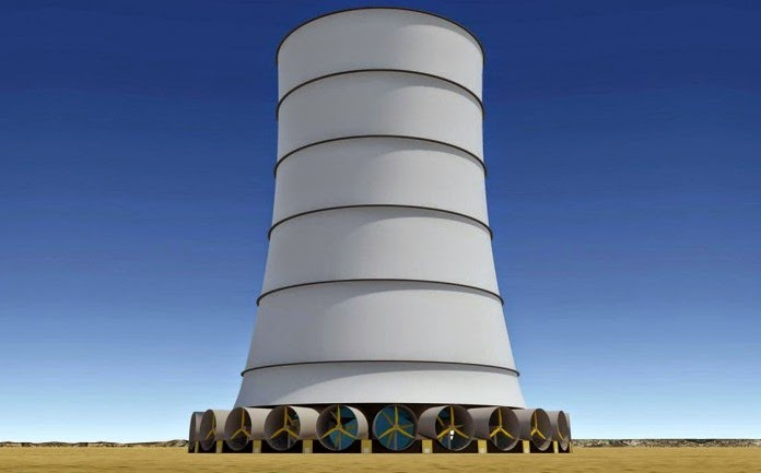 Solar Wind Energy's Downdraft Tower