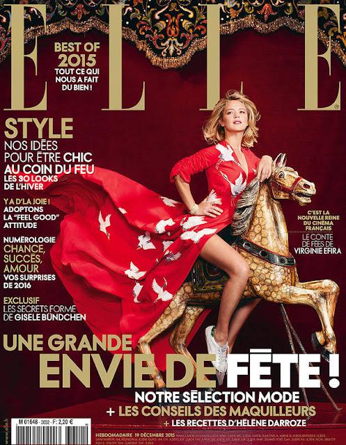 Actress, @ Virginie Efira for Elle France, December 2015