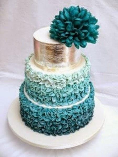 Tortas de Boda Color Turquesa, parte 1