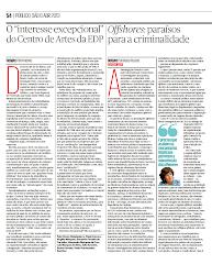 Artigo «O 'interesse excepcional' do Centro de Artes da EDP» (Púb. 6.4.2013)
